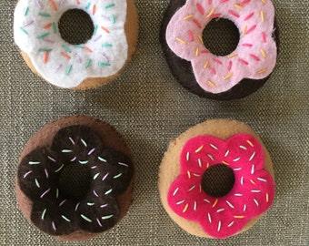 Felt Doughnut, Pretend food, Felt food, Play pretend, Play dessert, Felt toy