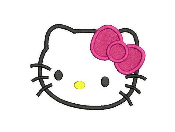 Hello kitty face applique embroidery design u migliori pagine da