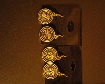 Steam Punk Owl Earrings Set of 2