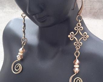 Earrings a beautiful dangle charm