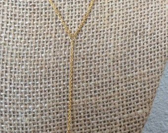 Herkimer lariat necklace- herkimer diamond, gold plated brass, lariat, y necklace, delicate