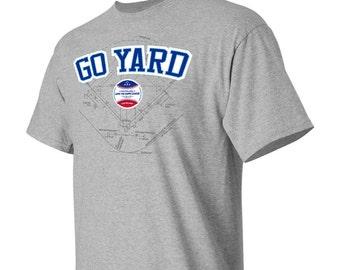 Baseball T-Shirt/Go Yard Baseball Lingo Tee/ Free Shipping