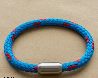 Blue Rope Bracelet | Mens Bracelet Blue made from Sailing Rope