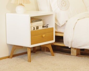 Night stand, bedside table, bed side table, end table, side table, skandinavian design, table de chevet, nachttisch