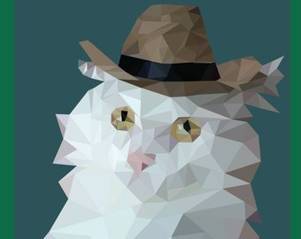 Custom Low Poly Pet Image