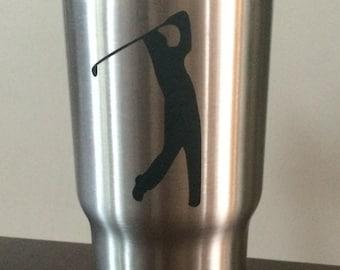 Golfer Decal/Golfer YETI Cup /Golfer Sticker/Golf Pro/Pro Golfer/Golf/Golf Team/Putt-Putt Decal/Golfing/Putt-Putt Monogram
