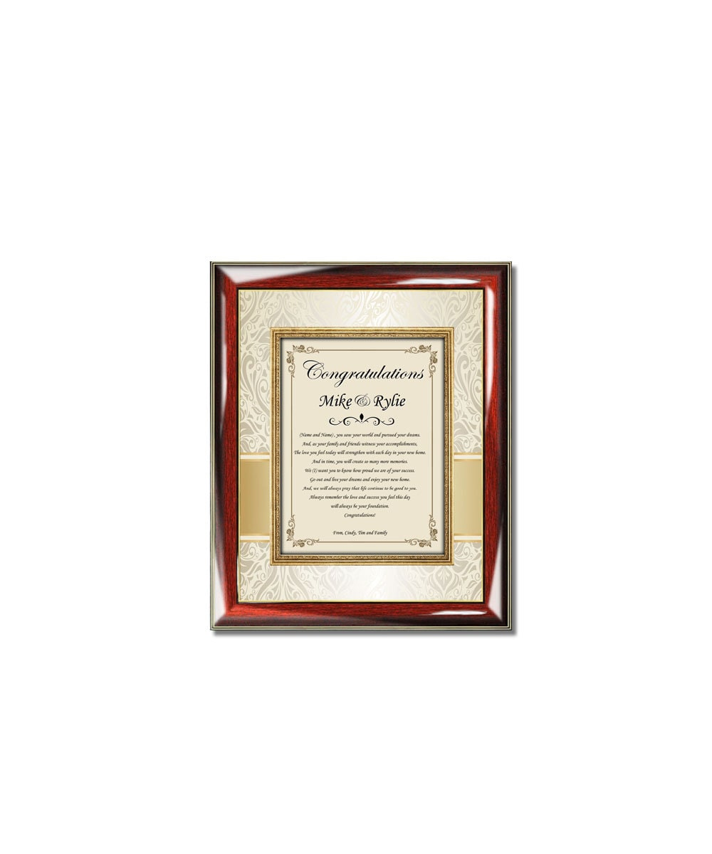 Personalized housewarming gift frame unique new home buyer for Unique new home gifts