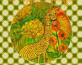 Giraffe, Art print