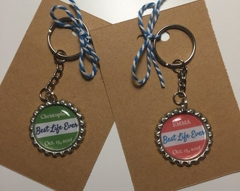 Personalized Key Chain for New JW or New Pioneer, Baptism Key Chain, Baptism Gift, JW Gift, Best Life Ever , Pioneer Gift