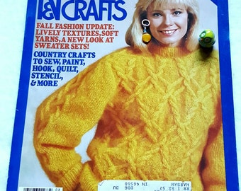August 1986 McCall's Needlework and Crafts Magazine Sweaters, Home Crafts
