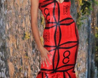 Long dress Mermaid/siren gown/evening dress/formal dress/evening gown/Fish-tail