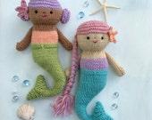 Sale - Amigurumi Knit Mermaid Dolls Pattern Digital Download