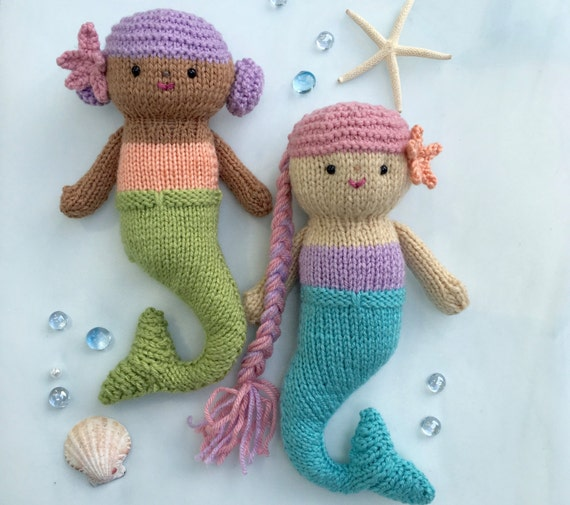 Amigurumi Knit Mermaid Dolls Pattern Digital Download