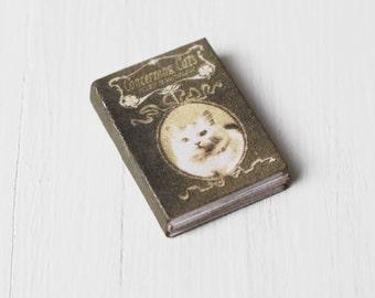 Dolls House Miniature Cat Book