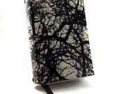 Paperback Book Cover - Reusable, Protective and Adjustable - Small Mass Market Size - Stylish Book Cover with Black Branches on Cream