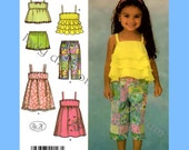 933 Simplicity 4610 Childs Cropped Pants (Capris) Shorts Dress Tops size 1/2 1 2 3 4 Toddlers Sewing Pattern Uncut