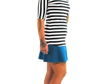 Simple Tee H/S - XS - CIRCUS STRIPE - Organic Cotton/Spandex
