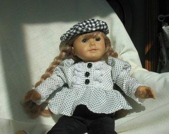 Dapper Dolly- slacks, blouse and tam for American Girl