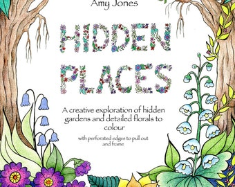 "Gorgeous ""Hidden Places"" Artist Adult Colouring Book"