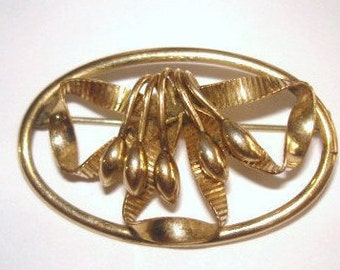 Flower Signed BB 1/20 12K GF Vintage Jewelry Brooch