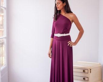 Bridesmaid long sleeve dress, Maxi dress, Bridesmaid maxi dress, marsala bridesmaid dress, long dress, long sleeve evening dress, party