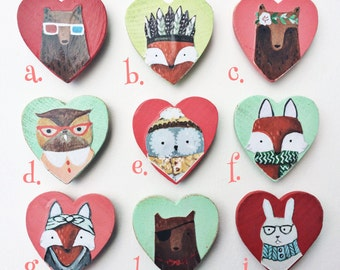 Choose Any Four 'Forest Friend Magnets'