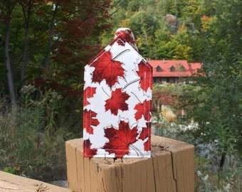 Red Maple Leaf Luggage Tag