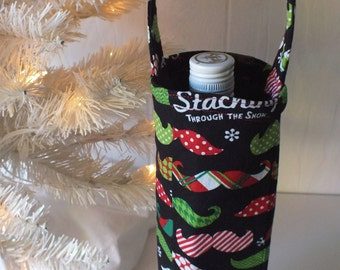 Staching Through the Snow Wine Tote