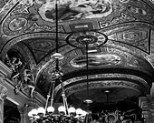 Paris Opera House, Chandelier Print, Paris Photography, Chandelier Wall Art, Black and White Travel Photography
