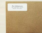 Return Address Labels - Design #04, Cursive Address Labels, Rustic Wedding, Calligraphy Address Label, Custom Labels, Personalized Labels