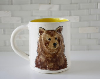 Grizzly Bear Mug | Brown Bear | woodland animals | coffee mug tea cup | soul animal mug | in stock