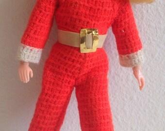 Vintage Red Jumpsuit For Skipper Doll