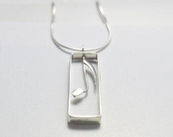 Music Jewellery, Music Note Silver Pendant, Music Necklace, Music Note Silver Jewellery, Quaver Pendant, Australian Jewellery, FREE SHIPPING