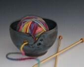 Mottled Turquoise Yarn Bowl