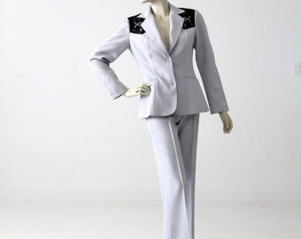 1970s H Bar C women's suit, western rodeo pants and blazer