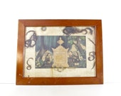 RESERVED - Antique Mourning Hair Art, Victorian Wall Decor, Vintage Oddities