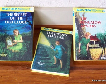 Nancy Drew 3 Mystery Story Books for Girls by Carolyn Keene