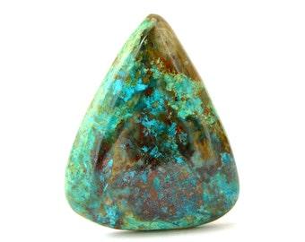 Chrysocolla Cabochon Stone (40mm x 32mm x 7mm) 62cts - Drop Cabochon