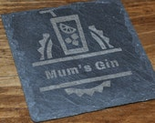 Gin Personalised Slate Coaster