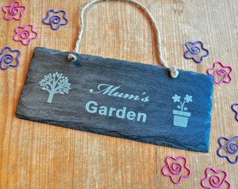 Personalised Garden Slate Sign