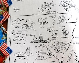 Little Rock Map Etsy - Little rock usa map
