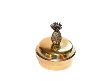 Brass Trinket Dish Pineapple Trinket Dish Pineapple Jewelry Box Pineapple Decor Pineapple Container