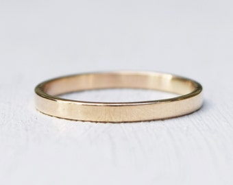 Solid 14K Gold Band - Wedding Band - Delicate Jewelry - Petite Jewelry - Stacking Ring - Sizes 4 to 9 - Gift For Her