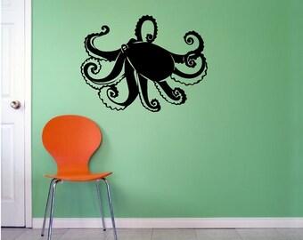 Octopus Tentacles Removeable Vinyl Wall Decal Sticker Nursery Animal Art