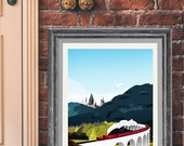 Harry Potter Hogwarts Travel Poster Vintage Railway posters Home Decor Wall Art