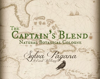 Natural cologne - tobacco cognac leather seaweed musk - THE CAPTAINS BLEND - choose size