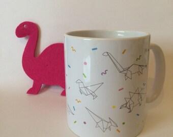 Dinosaur Origami Mug