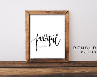 Dorm Wall Art, Scripture Wall Art, Quote Prints, Hand Lettered Truth, Christian Prints, Dorm Decor, Calligraphy, Wall Art, Bible Quotes