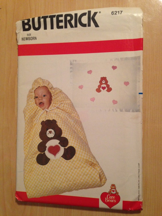 Butterick 6217 Sewing Pattern 80s Uncut Infants Bunting and Blanket Size Newborn