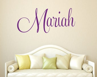 Name Wall Decal | Etsy